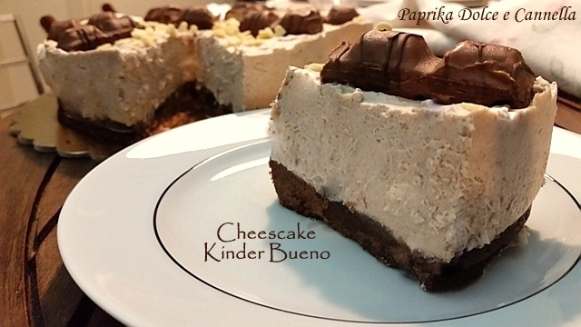 Cheesecake Kinder Bueno (senza cottura)