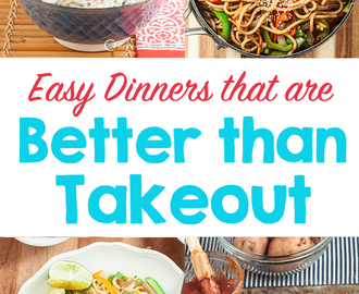 Healthy Dinner Recipes Better Than Takeout