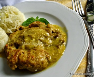 Šnicle u kari (curry ) umaku