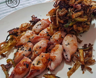 RACIMO DE CALAMARES CON VERDURITAS/ BUNCH OF SQUIDS WITH VEGETABLES