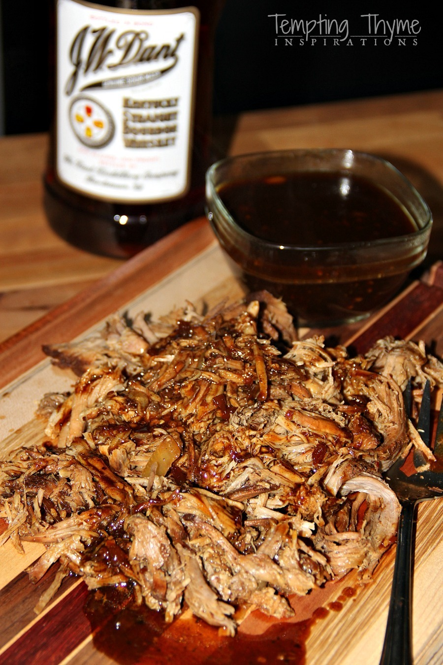 Pulled Pork with Whiskey Barbecue Sauce
