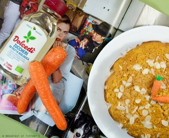 Torta integrale di carote e mandorle / Carrot and almond whole-wheat cake recipe
