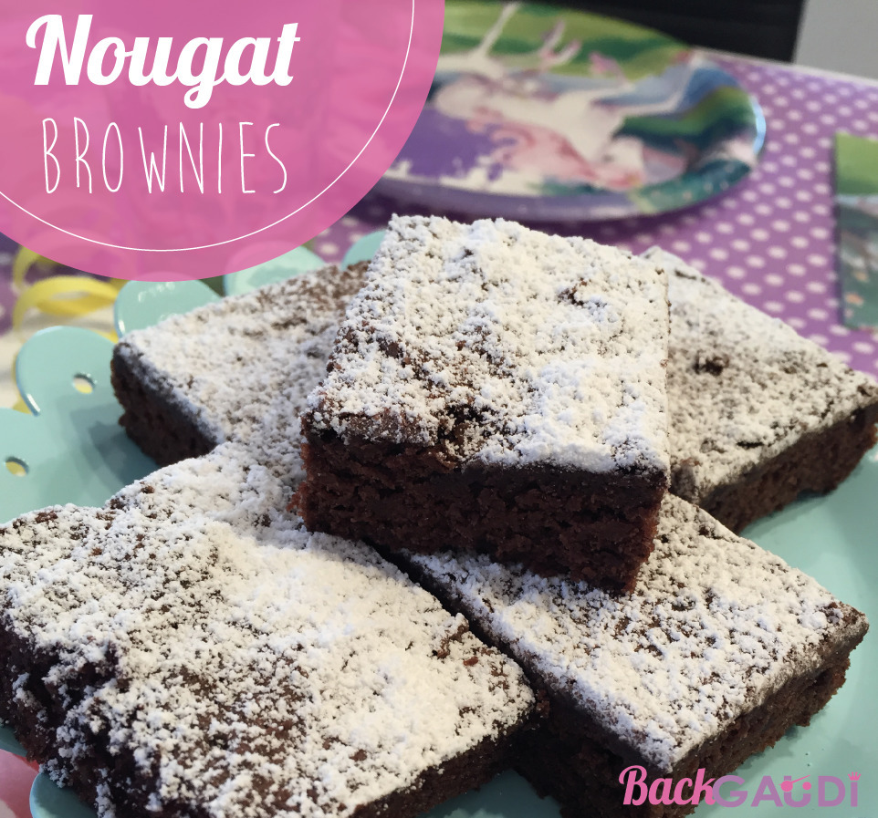 Nougat-Brownies