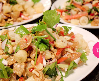 Spicy fish maw salad (ํYam Sam Krob)