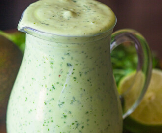 Healthy Creamy Avocado Cilantro Lime Dressing