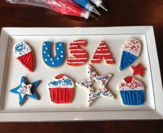 Fourth of July Royal Iced Cookies