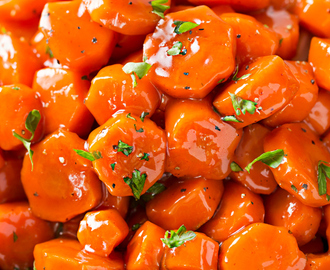 Spicy Bourbon Glazed Carrots