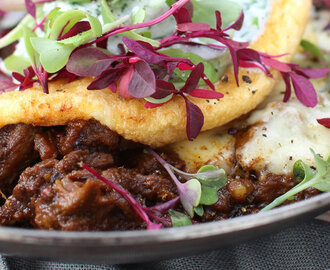 Souffle Midlands Free Range Egg Omelette with Lamb Curry Recipe