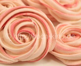 Baiser Rosen | Rose Meringue Cookies