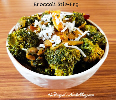 BROCCOLI PORIYAL / BROCCOLI STIR-FRY