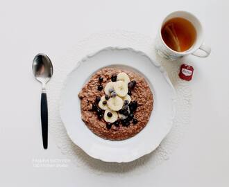Protein Rich Organic and Vegan Chocolate Oatmeal
