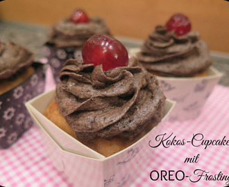 {Use up along} Challenge 5 - Kokoscupcakes mit Oreo-Frosting