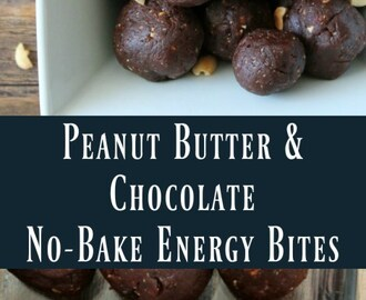 Peanut Butter and Chocolate No-bake Energy Bites