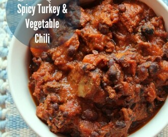 Slow Cooker Spicy Turkey and Vegetable Chili