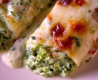 Swiss Chard and Sweet Pea Manicotti (Winter)
