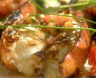 Grilled Lobster Tails with Tarragon-Lemon Vinaigrette