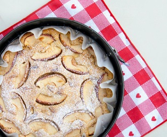 Torta di mele light senza burro e senza uova / Light apple cake recipe