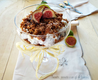 Cheesecake in coppa ai fichi