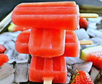 Watermelon Strawberry Popsicles - Strawberry Watermelon Ice Pops