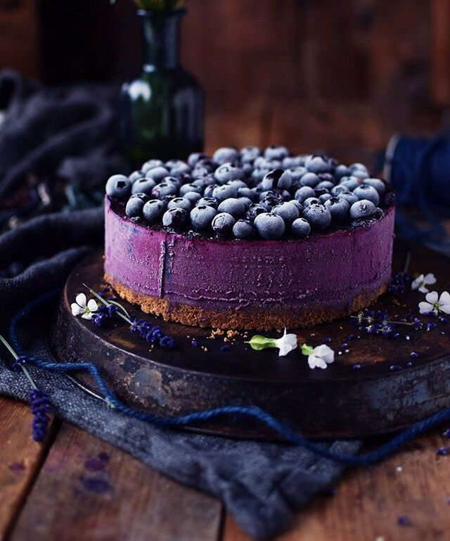 Low Carb Blueberry Cheesecake – ohne Backen ohne Zucker