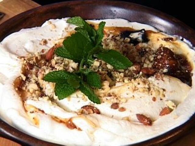 Greek Yogurt with a Fig, Date, and Honey Swirl