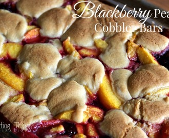 Blackberry Peach Cobbler Bars