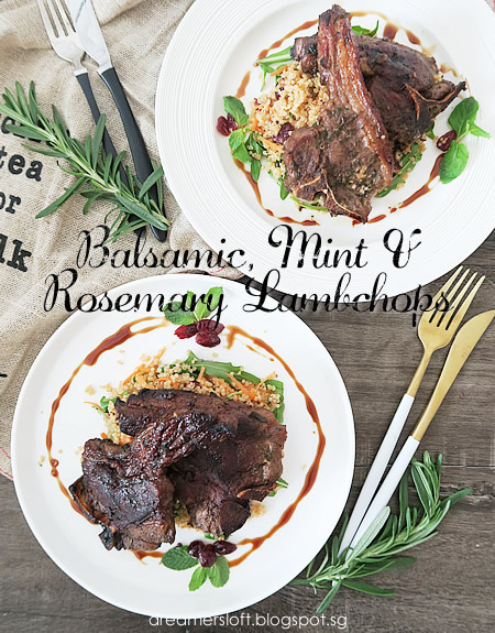 Balsamic, Mint & Rosemary Lambchops with Quinoa Salad