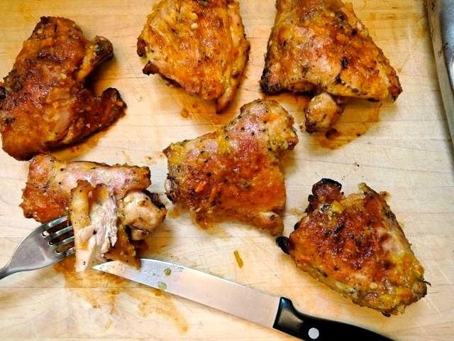 Grilled Chicken Thighs with Singapore-Style Sauce