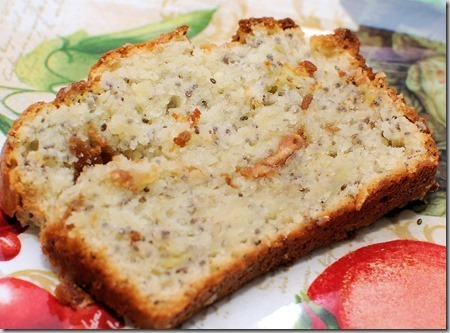 Banana Cream Cheese Bread with Chia and Peanut Butter Center
