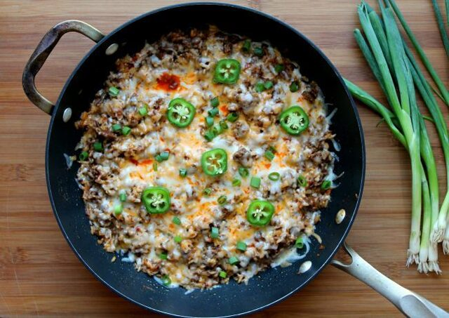 Taco Rice Skillet – One Pot Meal