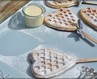 French Fridays with Dorie - Waffles & Cream with Homemade Egg Liqueur