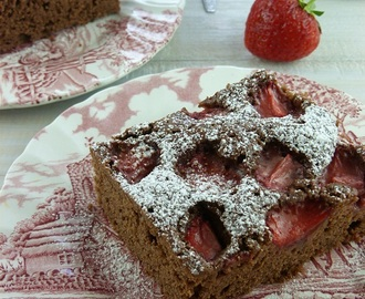 Čokoladni kolač sa jagodama / Chocolate Strawberry Cake
