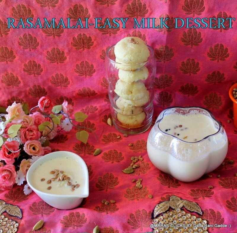 Easy Rasamalai with step by step pictures/Make rasamalai with baked rasagullas/Milk sweets/Easy indian sweets with ricotta cheese/How to make ricotta cheese rasamalai