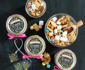 S'more Trail Mix Baby Shower Favors