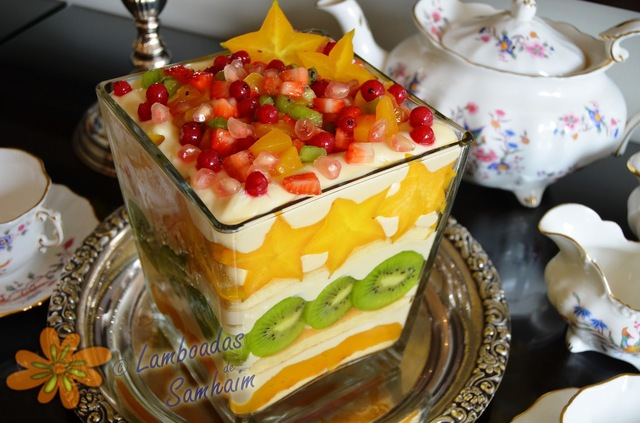 Trifle de frutas con crema de queso- Fruit trifle wiht cheese cream