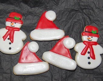 Christmas Sugar Cookies Square Collection (24 cookies)