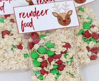 Reindeer Food – Free Christmas Printable Gift Bag