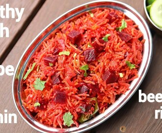 beetroot rice recipe | beetroot pulao | how to make beetroot rice