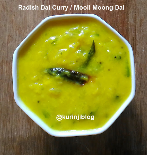 Radish Dal Curry Recipe / Mooli Moong Dal Curry