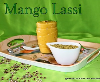 Indian mango sweet lassi with cardamom and fennel seeds flavor/easy summer drinks/lassi recipes/Easy mango drinks recipes