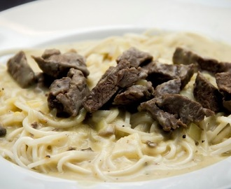 Beef Stroganoff and Noodle Soup