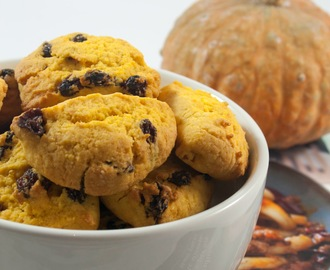 Biscotti di zucca e uvetta / Pumpkin and raisins cookies recipe