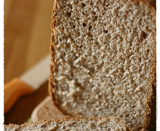 Pane integrale al latticello con Mdp – Whole wheat buttermilk bread with bread machine