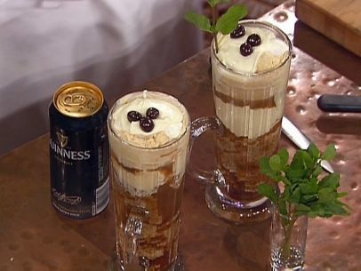 Caramel Ice Cream and Guinness Float with an Espresso Syrup Cake