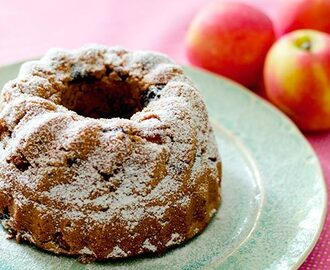 Apple Rum Raisin Cake (Gluten-Free, Low-GI)