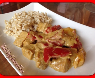 Tempeh and pepper with coconut curry / Tempeh e peperoni al curry di cocco