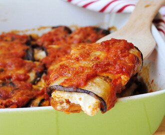 Eggplant Rolls with Ricotta and Mozzarella
