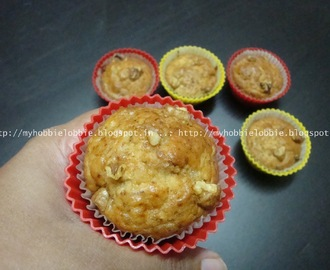 Mini Eggless Banana Walnut Muffins