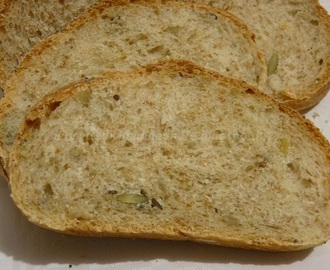 Pan ciabatta con crusca e mix di semi