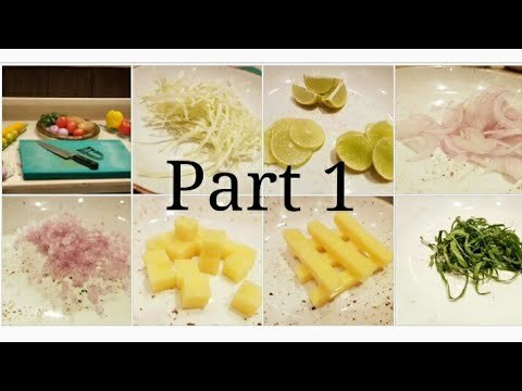 Basics : Different types of Vegetables cuts |  Part 1| BY Monika Talwar - YouTube
